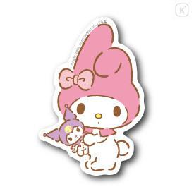 Japan Sanrio Vinyl Sticker - Melody & Kuromi Plush - 1