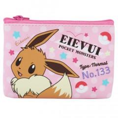 Japan Pokemon Flat Mini Pouch - Eevee Pink