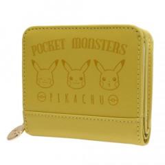 Japan Pokemon Bi-Fold Wallet - Pikachu Face Yellow