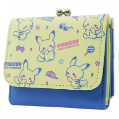 Japan Pokemon Bi-Fold Wallet - Pikachu Yellow & Blue
