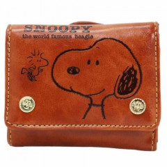 Japan Snoopy Bi-Fold Wallet - Brown