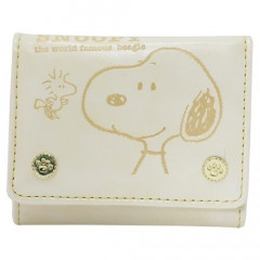 Japan Snoopy Bi-Fold Wallet - Ivory