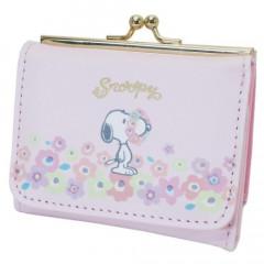Japan Snoopy Bi-Fold Wallet - Pink & Flora