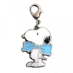 Japan Snoopy Key Charms - Blue Ribbon