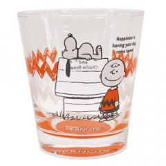 Japan Snoopy Glass - Charlie Orange