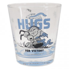 Japan Snoopy Glass - Hugs Charlie Blue