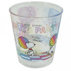 Japan Snoopy Glass - Rainbow Dance