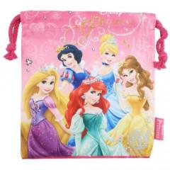 Japan Disney Drawstring Bag - Princess Pink