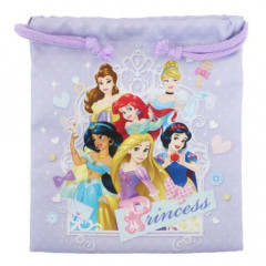 Japan Disney Drawstring Bag - Princess Purple