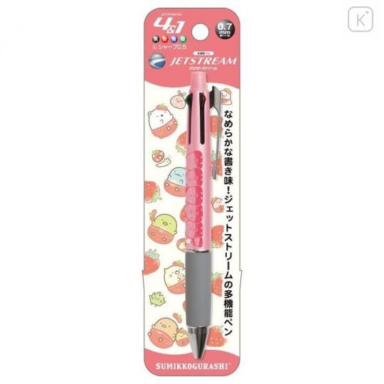 Japan San-X Jetstream 4+1 Multi Pen & Mechanical Pencil - Sumikko Gurashi / Strawberry Pink - 1