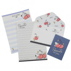 Japan Snoopy Letter Envelope Set - Cherry