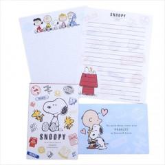 Japan Snoopy Letter Envelope Set - Friends