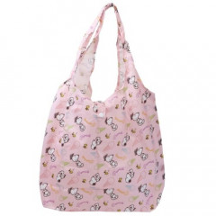 Japan Snoopy Eco Shopping Bag - Light Pink