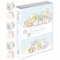 Japan San-X Memo & Mini Eraser Set - Sumikko Gurashi / Mysterious Rabbit Oniwa A