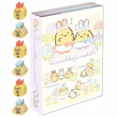 Japan San-X Memo & Mini Eraser Set - Sumikko Gurashi / Mysterious Rabbit Oniwa B