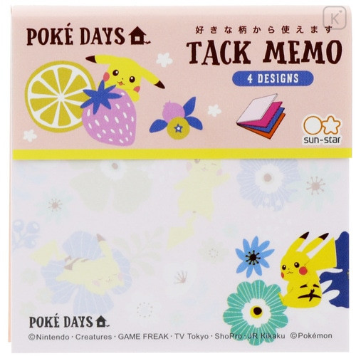 Japan Pokemon Memo Pad - Pikachu / Poke Days Pink - 2