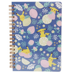 Japan Pokemon Twin Ring B6 Notebook - Pikachu / Poke Days Fruit