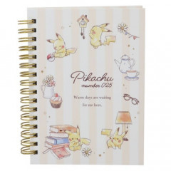 Japan Pokemon Twin Ring A6 Notebook - Pikachu / Afternoon