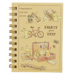 Japan Pokemon Twin Ring A6 Notebook - Pikachu / Travel