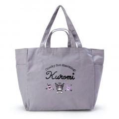 Japan Sanrio Canvas 2way Tote Bag - Kuromi