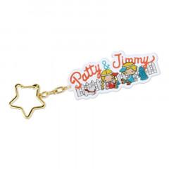 Japan Sanrio Acrylic Keychain - Patty & Jimmy