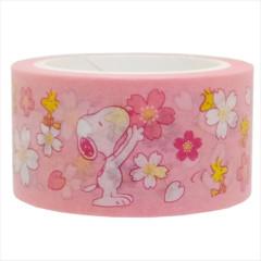 Japan Peanuts Washi Paper Masking Tape - Snoopy Sakura