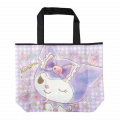 Japan Sanrio Wide Eco Shopping Bag - Kuromi Wink