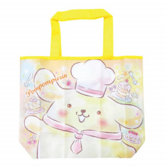 Japan Sanrio Wide Eco Shopping Bag - Pompompurin Smile