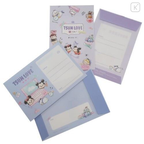 Japan Disney Letter Envelope Set - Tsum Tsum Love - 3