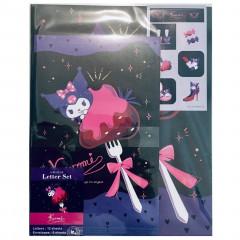 Japan Sanrio Letter Envelope Set - Kuromi & Sweets