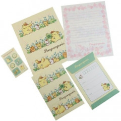 Japan Sanrio Letter Envelope Set - Pompompurin & Leaves