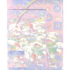 Japan Sanrio Letter Envelope Set - Little Twin Stars In the Sky