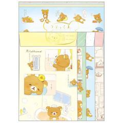 Japan Rilakkuma Letter Envelope Set - Comic
