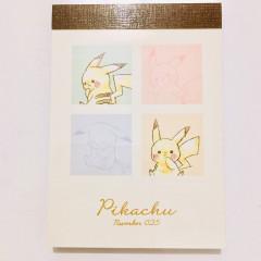 Japan Pokemon B8 Mini Notepad - Pikachu / Colorful
