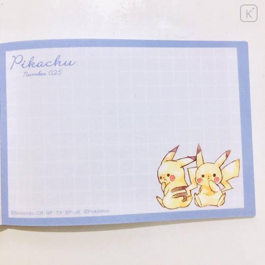 Japan Pokemon Mini Notepad - Pikachu / Colorful - 3