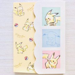 Japan Pokemon A6 Notepad with Cover - Pikachu / Colorful