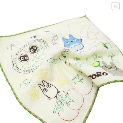Japan Studio Ghibli Embroidery Handkerchief - My Neighbor Totoro / Vegetables - 3