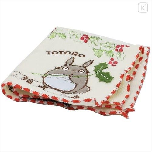 Japan Ghibli Embroidery Handkerchief - My Neighbor Totoro / Flower - 2