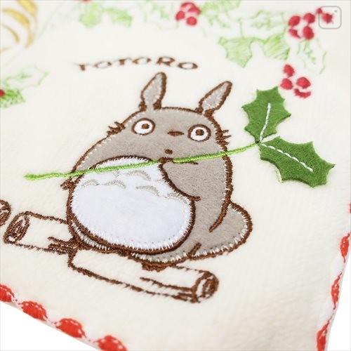 Japan Ghibli Embroidery Handkerchief - My Neighbor Totoro / Flower - 3