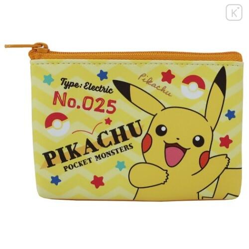 Japan Pokemon Flat Mini Pouch - Pikachu - 1