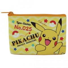 Japan Pokemon Flat Mini Pouch - Pikachu