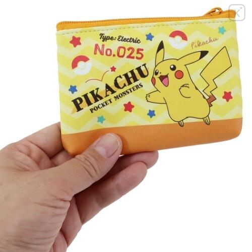Japan Pokemon Flat Mini Pouch - Pikachu - 3