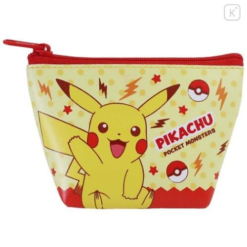 Japan Pokemon Triangular Mini Pouch - Pikachu - 1