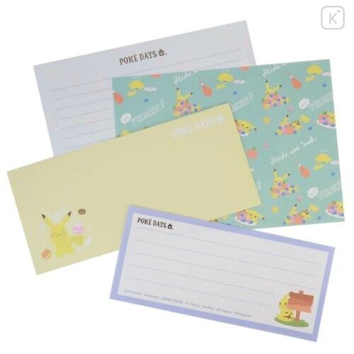 Japan Pokemon Letter Envelope Set - Pikachu / Poke Day - 1