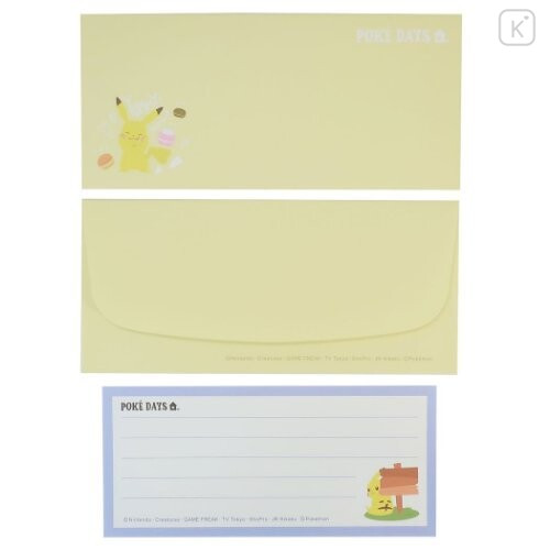 Japan Pokemon Letter Envelope Set - Pikachu / Poke Day - 3