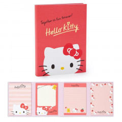 Japan Sanrio Memo Pad with Book Cover - Hello Kitty