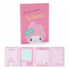Japan Sanrio Memo Pad with Book Cover - My Melody