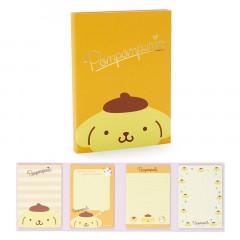 Japan Sanrio Memo Pad with Book Cover - Pompompurin