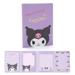 Japan Sanrio Memo Pad with Book Cover - Kuromi
