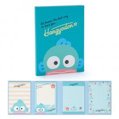 Japan Sanrio Memo Pad with Book Cover - Hangyodon